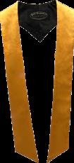 écharpes de couleur jaune d'or