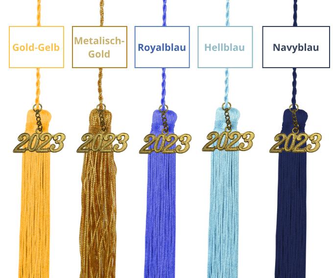 Farbige Quaste und Jahreszahl