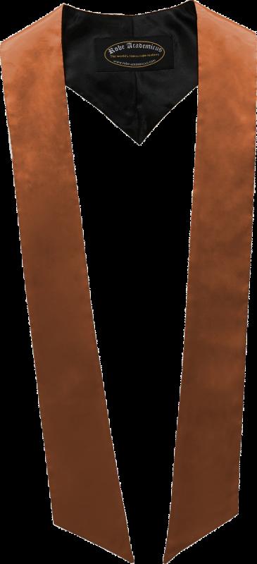 Schärpe in der Farbe Kupfer Organge